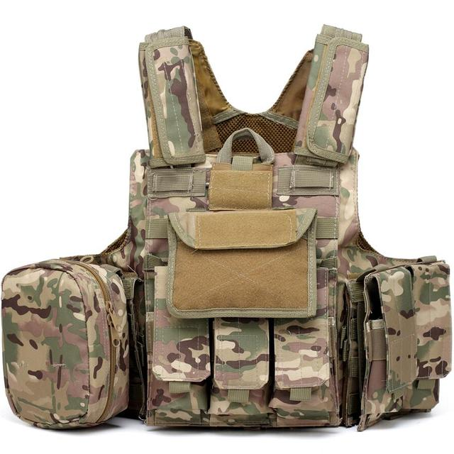Lever 5 Oxford Military Camouflage Bulletproof Vest with Armor Pouch