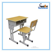 Model of study table furniture for kids design single desk with chairs