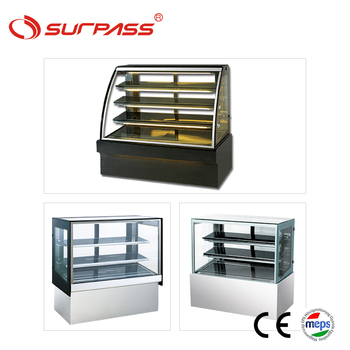 Commercial curved glass display refrigerator pastry cabinet fridge for cakes