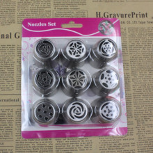 9pcs New design Stainless Steel Decorating Cakes Cake Tips sets