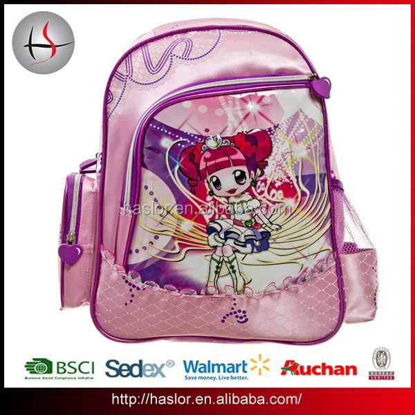 Hot Selling High Quality Kids Cartoon Picture of School Bag for Girls