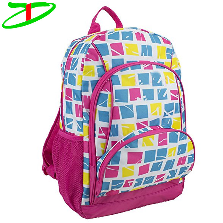 Multipurpose Casual Daypack Spacious Girls Multi Pocket Deluxe Backpack School Bag