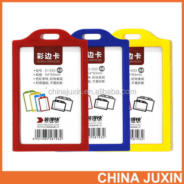 Colorful ABS Frame Card Holder Colorful PVC Sheet Card Holder