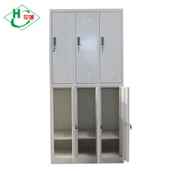 cheap changing room 6 doors metal storage clothing locker for employees