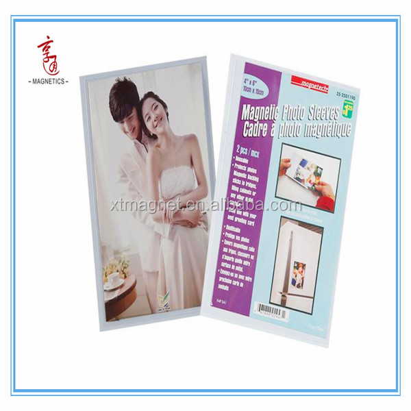 Magnetic Photo Sleeves /PVC magnetic photo frame 4*6inch 10*15cm