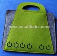 Non-woven felt tote handbag/wool felt bag