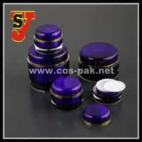 Cosmetic packaging jars round 100g, 200g acrylic cream jar