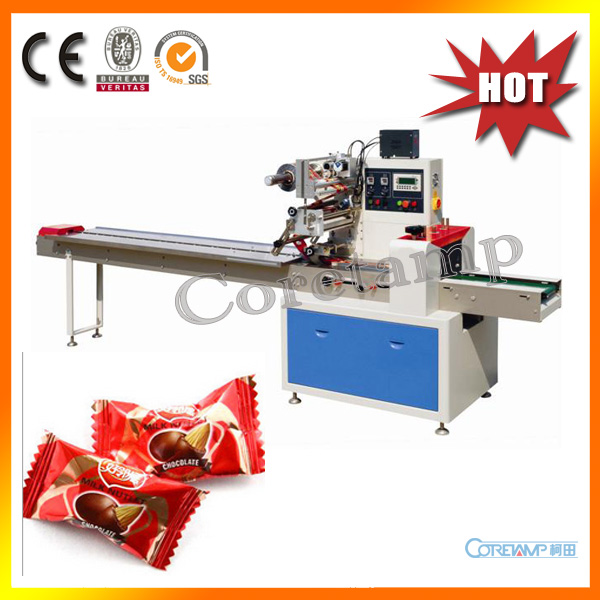 High Speed Automatic Flow Hard Candy Wrapping Machine