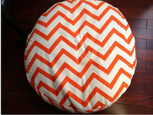 Fashion style cotton canvas pet zigzag chevron round dog bed mat house kennel washable with Removable Cover four colors