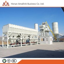 HZS90 90m3/h with Twin Horizontal Shaft Building Construction Tools Concrete Batching Plant