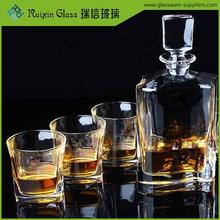 Popular high quality whiskey glass,thick bottom whisky glass,classic design square bar whiskey glasses for party