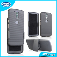 New Model Kickstand Hard Cell Phone Shell Holster Case for Motorola Moto G4