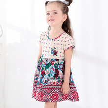 2017 New design Fashion Baby Girl Dress Children Clothing kids dresses for girls