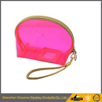 travel transparent pvc cosmetic bag with zipper and logo/soft pouch make up packing bag pvc cosmetic cute bag with zipper