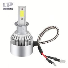 7 led headlights for cars cob chips changeable C6 car headlight adjustment for europe