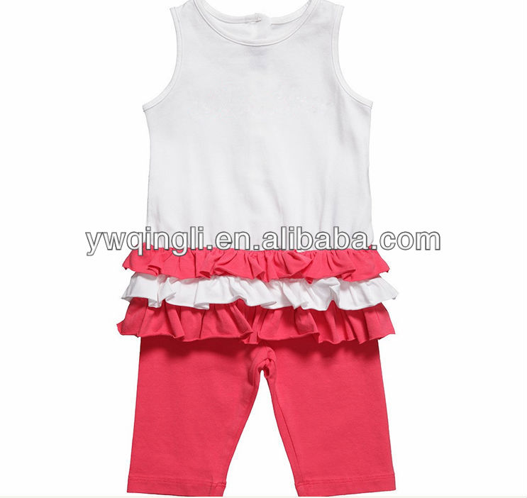 baby girls ruffle top kink legging set thieir signature style