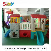 Inflatable playground equipment used for preschool indoor small plastic slide