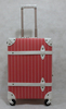 new design vintage style pp material luggage with tsa lock and striped printing