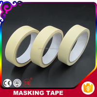 Wholesale China Factory Decoration Use Yellow 150mic Automotive Paper Masking Tape