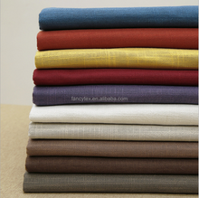 polyester high quality faux flax Linen sofa cover fabric for curtain bolster home textile