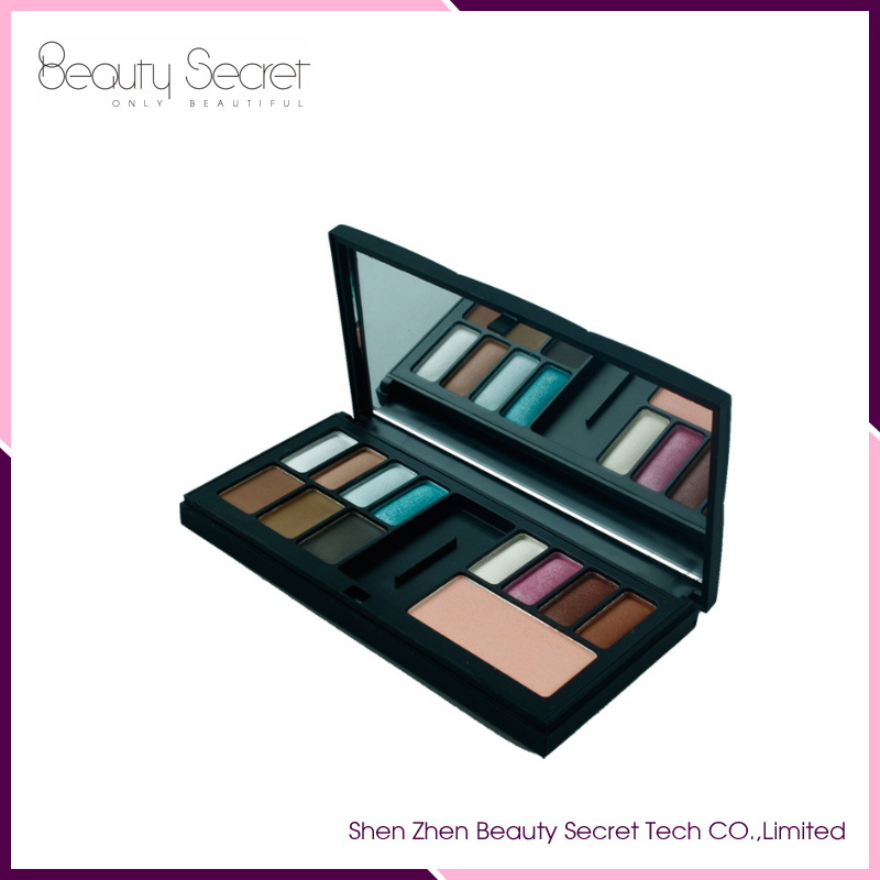 Cosmetic eyeshaow/eyebrow/blusher mixed palette make your own brand palette