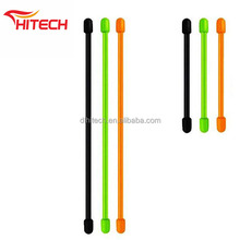 reusable silicone metal gear tie eco-friendly 8 inch cable tie