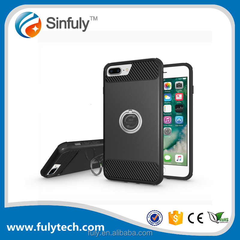 OEM ODM Factory Supply Mobile Phone Case With Ring Holder For iphone 6 6s plus 7 Shock proof Armor Case