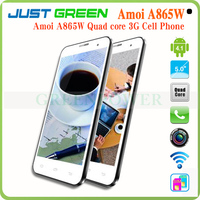 "Cheap Chinese phone 5"" Amoi A865W Android 4.1 Qualcomm Quad Core built in 3G GSM/CDMA 1GB RAM smartphone"