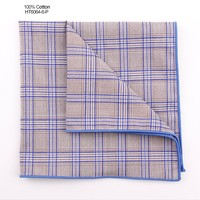 Small Grid Men Pocket Sublimation Handkerchief