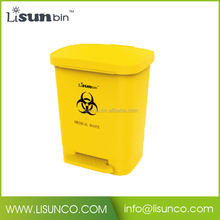 Hospital plastic trash can, custom container 30L