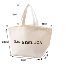 14oz Standard Size Natural Promotional Cotton Canvas Tote <strong>Bags</strong>