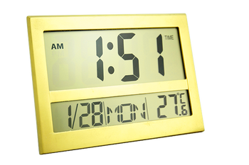 2017 new product big display thermometer desk clock