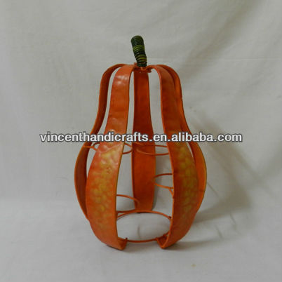 Halloween pumpkin metal candle holder for decorative