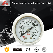 1.5 40mm hot sale cheap plastic case back connection common pressure gauge manometer