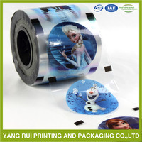 Plastic cup lidding/sealing film on roll for yogurt packing