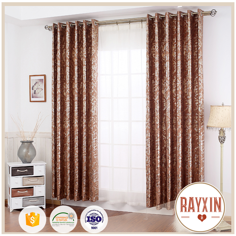 factory price gold stamp European style indian dubai window curtain