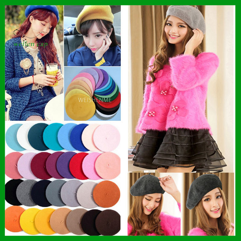 Colourful Winter Fashion Elegant Wool French Artist Cheap Berets for Sale