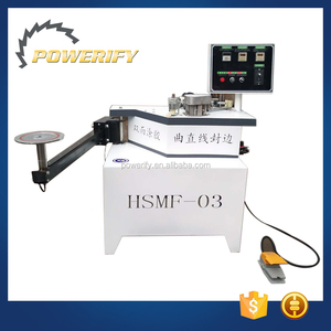 Powerify Brand Woodmaking Machinery Wood Pvc Mdf Manual Curve Straight Line Edge Banding Machine