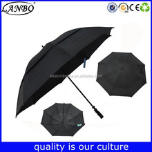 pulley system transfer print metal golf umbrella with company logo