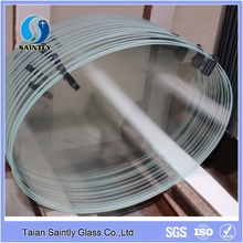 2017 high quality 6mm tempered low iron glass price