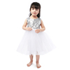 silver sequin top fluffy white tulle girls skirts girl party dress girl wedding dress
