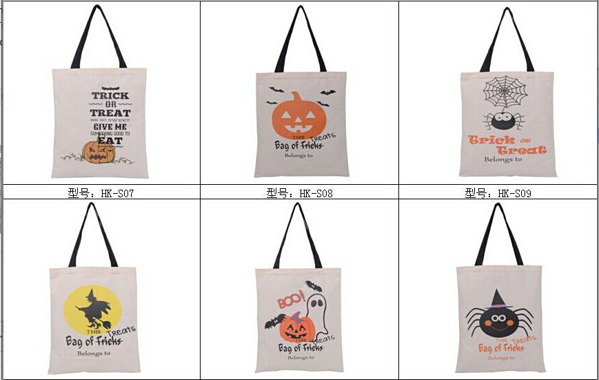 halloween bags Halloween Tote Bags with Handle Pumpkin Christmas Shopping Bags Festival Gifts Bag Halloween Canvas Bag
