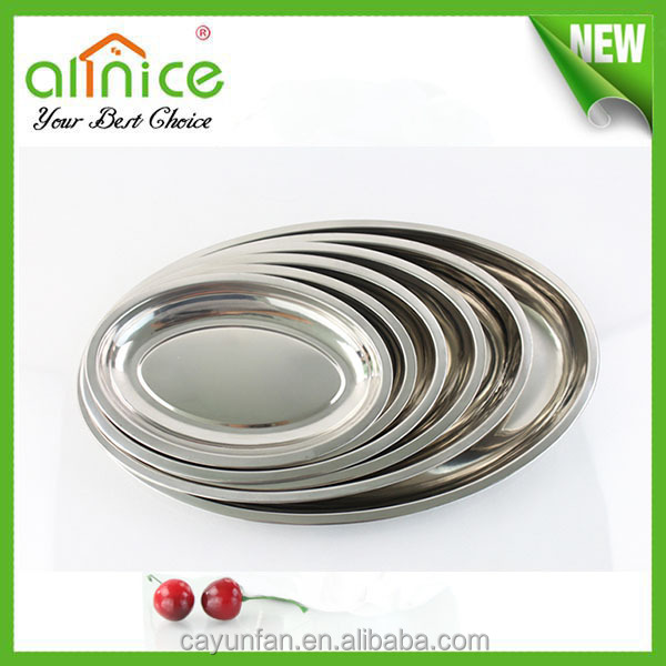 Egg designed stainless steel oval plate/oval dish/oval tray