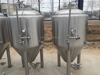 4bbl steel conical beer fermenter,cylindrical conical tank