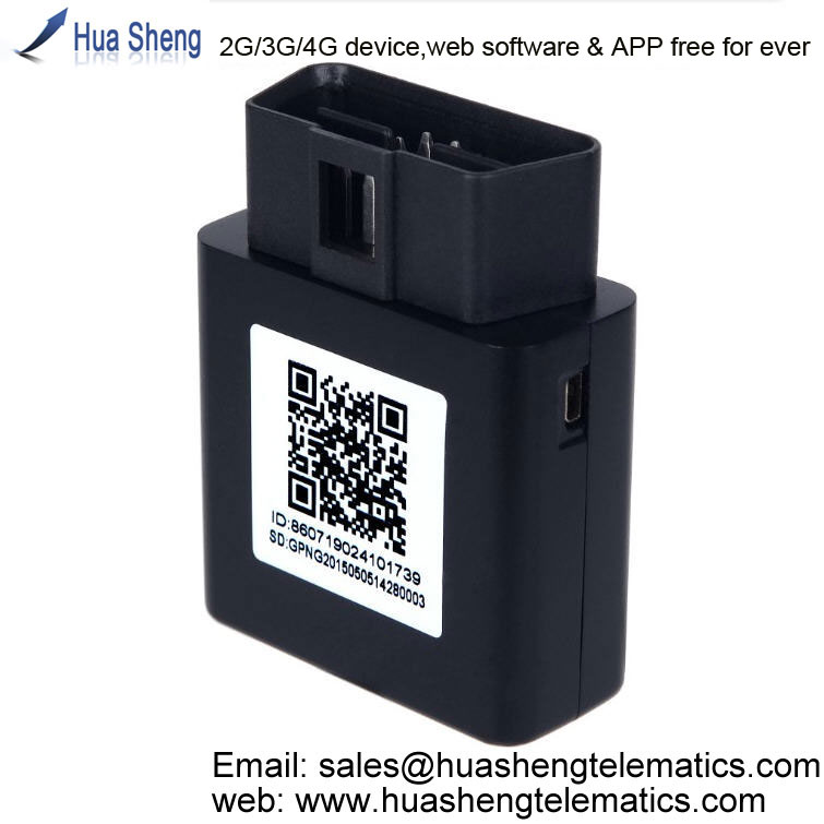 gps tracking system with mobilephone application [2G, 3G, 4G] support OBD II, canbus