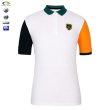 Best selling design color combination mens polo t shirt