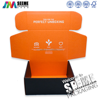 Offset printing custom made double sides printed packaging cardboard shipping boxes