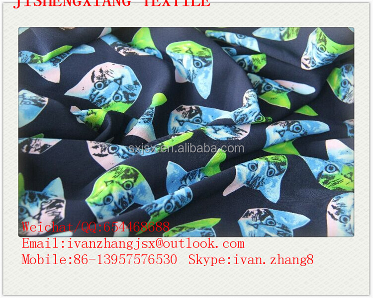 Jishengxiang Textile Hot Selling Cheap Price 92% Poly 8% Lycra DTY Print Double Sides Brushed Polyester Fabric