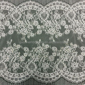 2015 white cotton lace embroidery fabric/textile