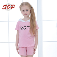 2 pieces summer apparel wear for children clothing sets girl suit